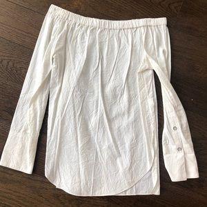 Rag & Bone Off-Shoulder Shirt in White
